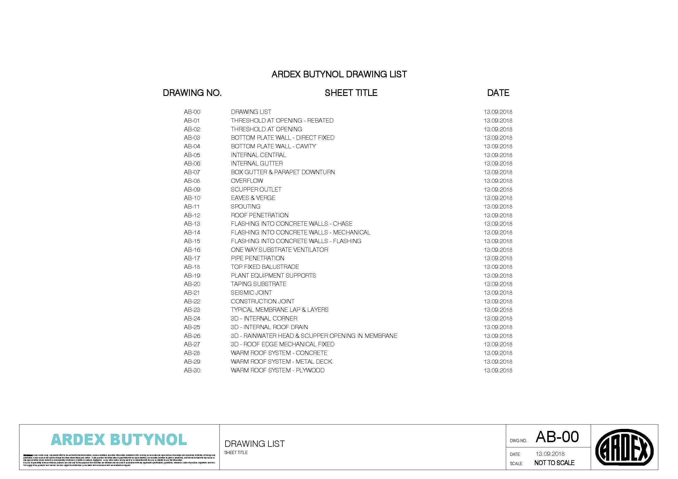 Butnol Technical Drawings
