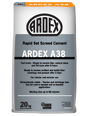 ARDEX A 38 - Rapid Set Screed Cement - ARDEX New Zealand