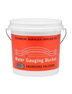 Gauging bucket