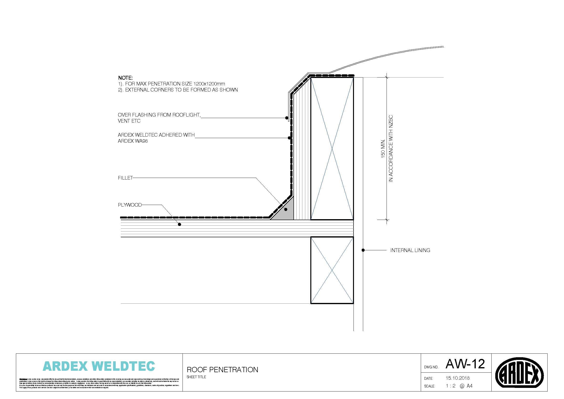 Weldtec roof penetration