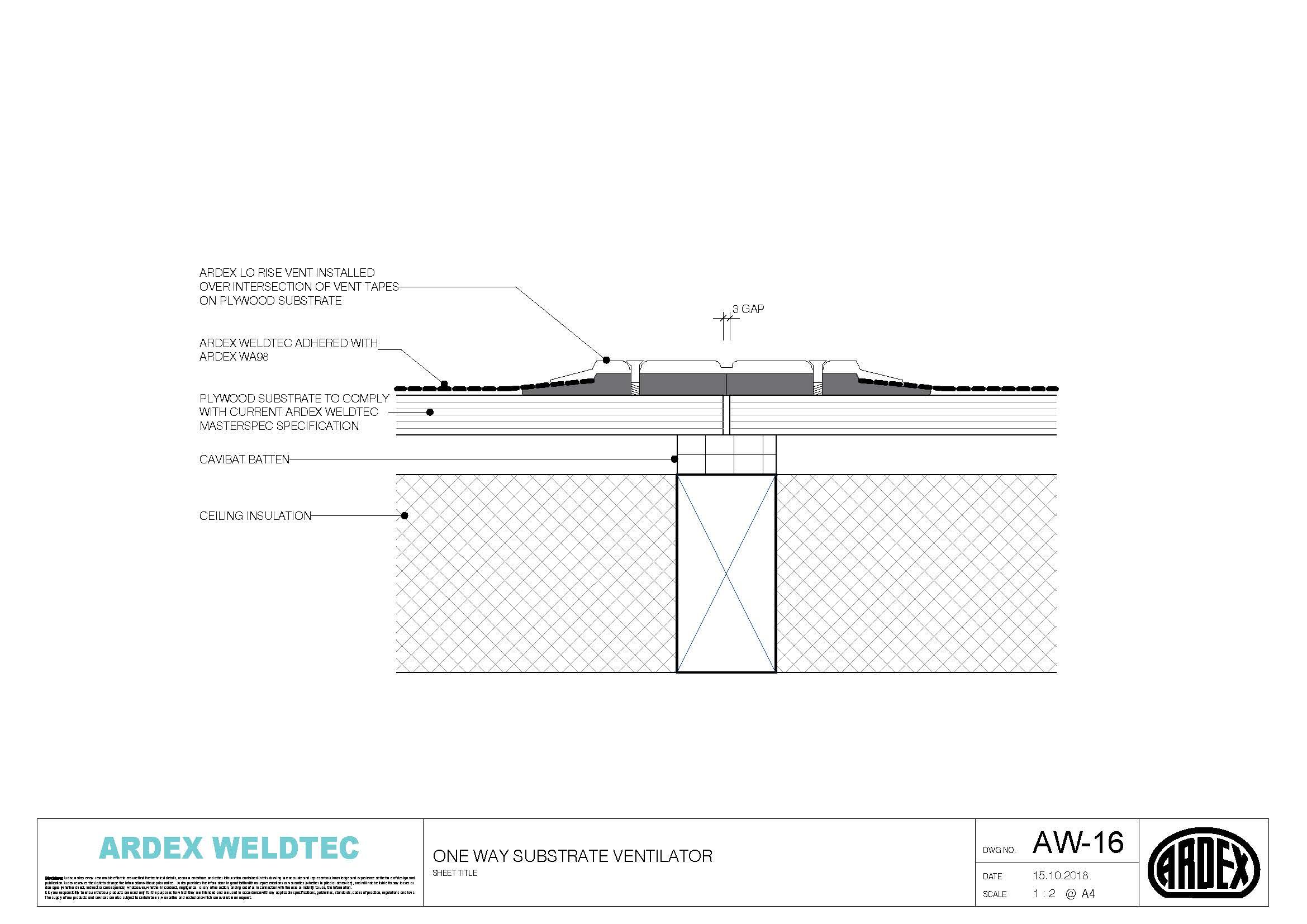 Weldtec one way substrate ventilator