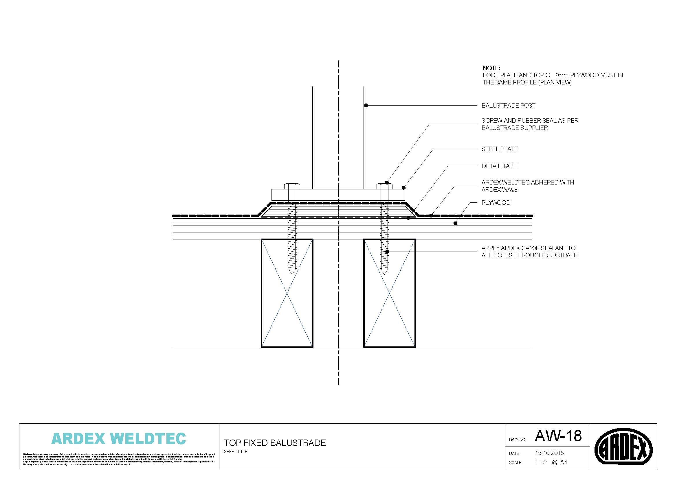Weldtec top fixed balustrade