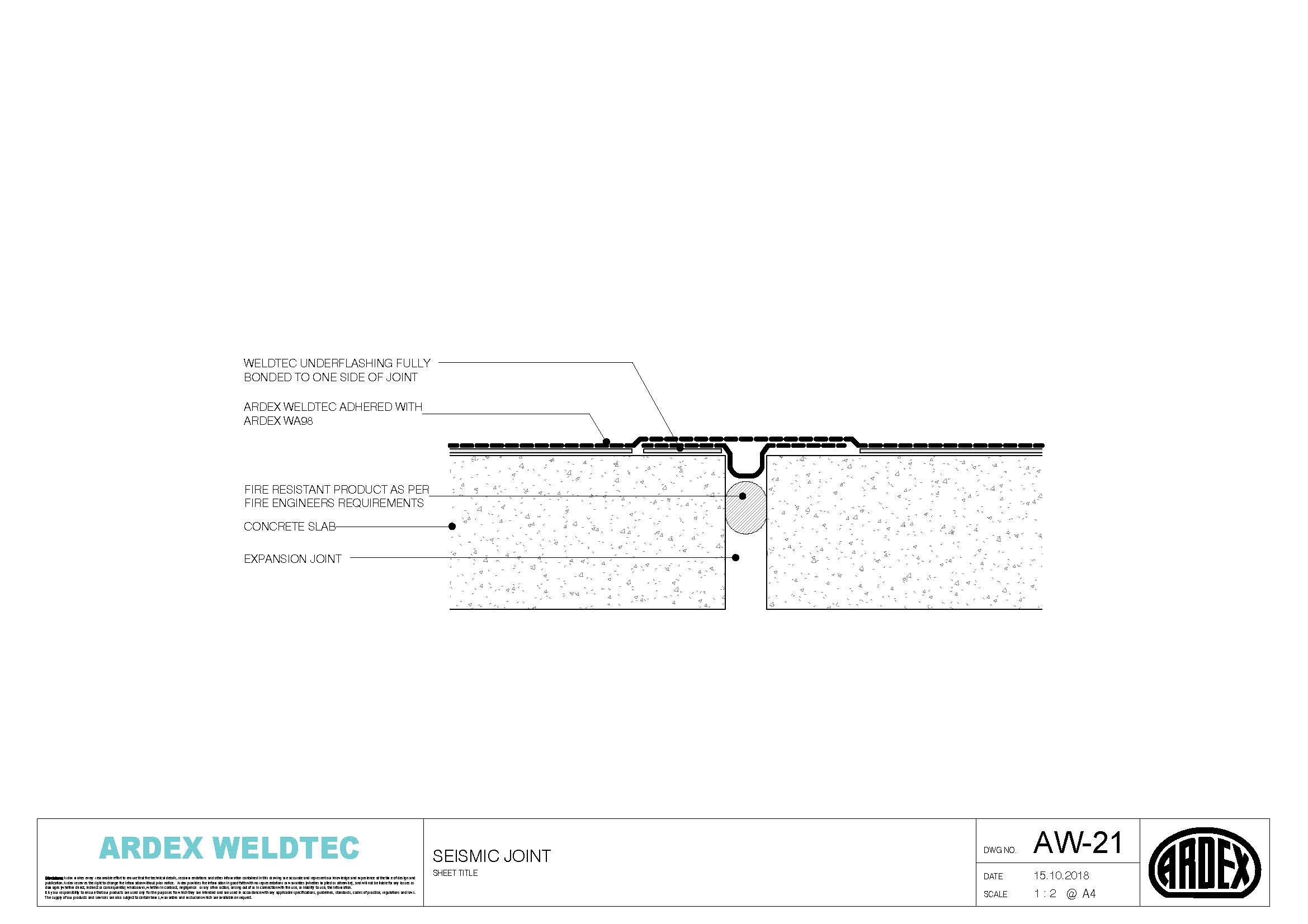 Weldtec Seismic joint