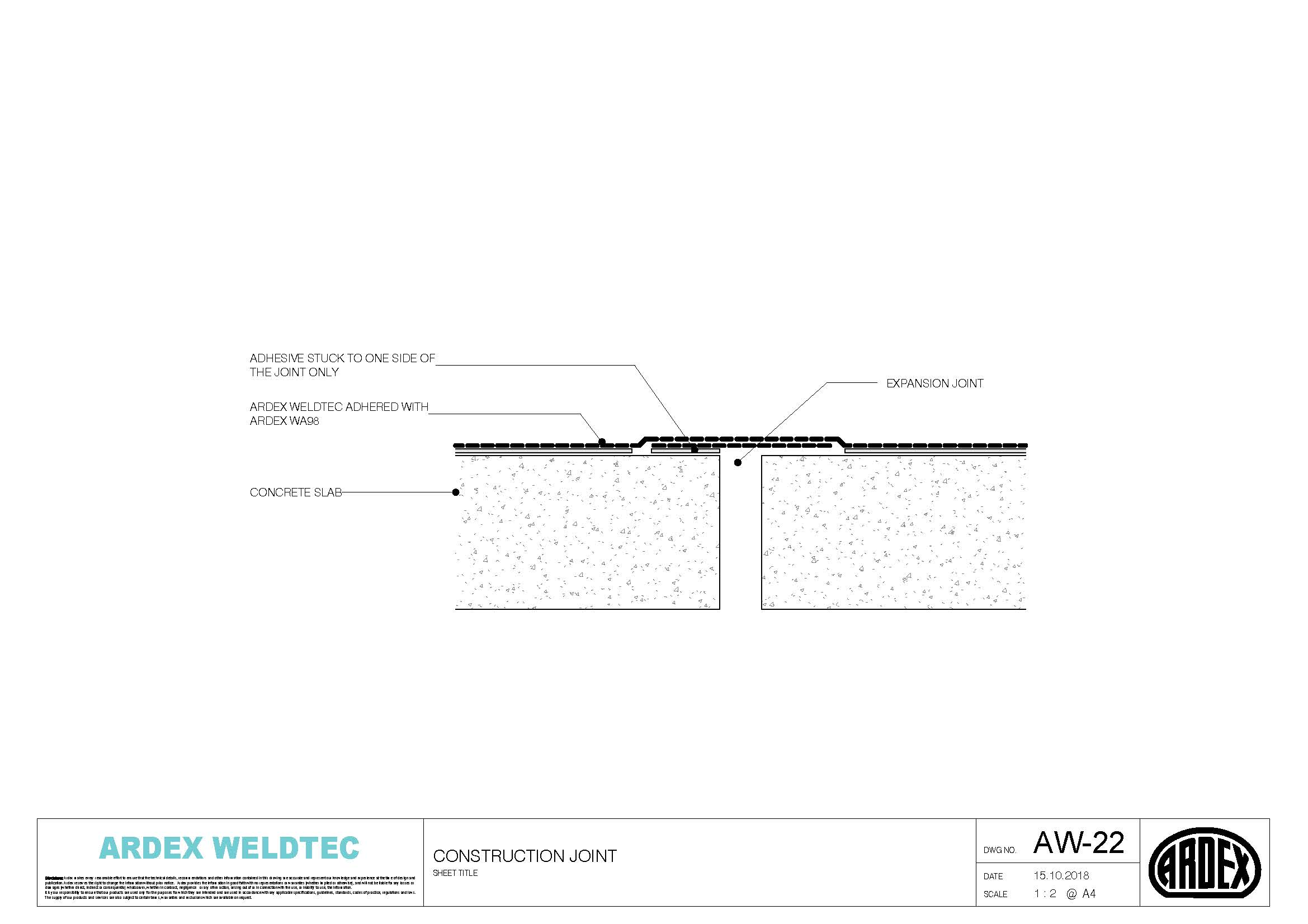 Weldtec construction joint