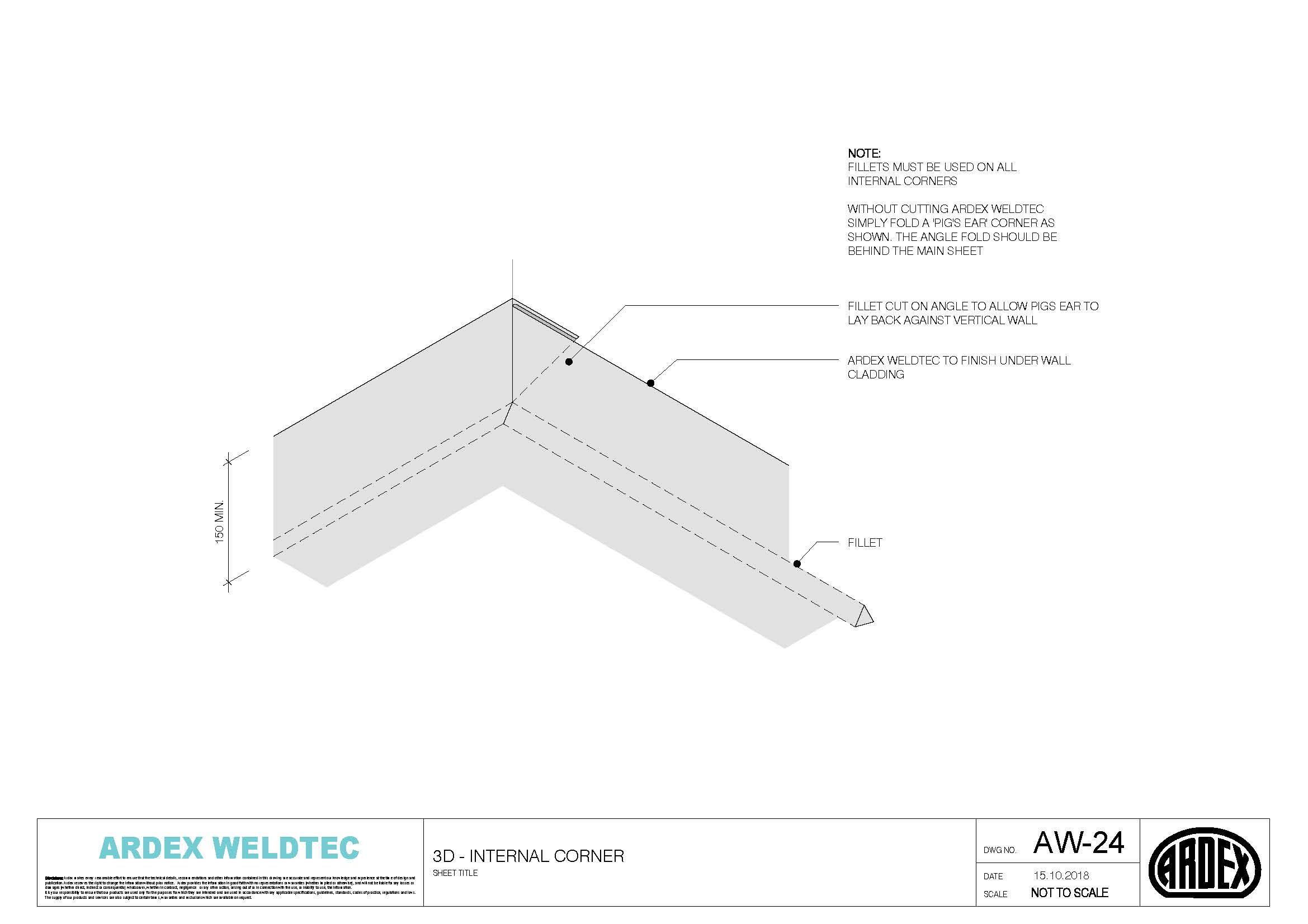 Weldtec internal corner