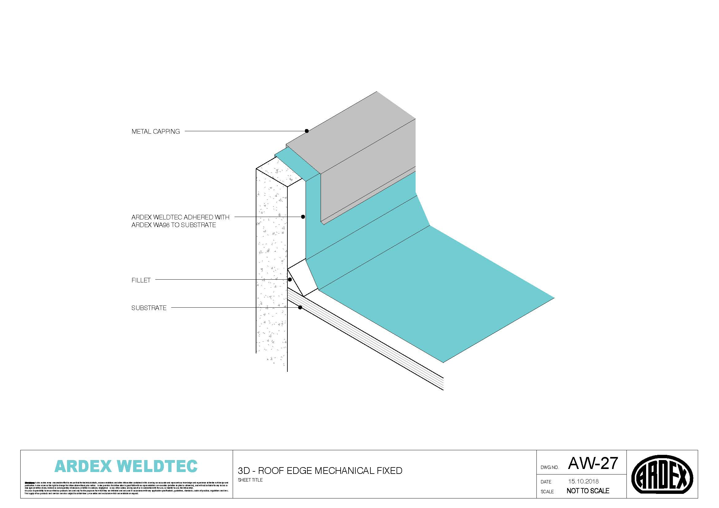 Weldtec Roof Edge Mechanical Fixed