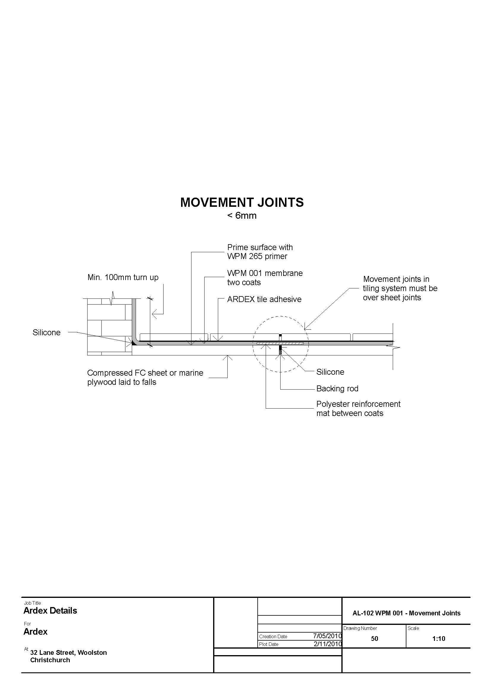 CAD Downloads - Liquid Waterproofing - ARDEX New Zealand